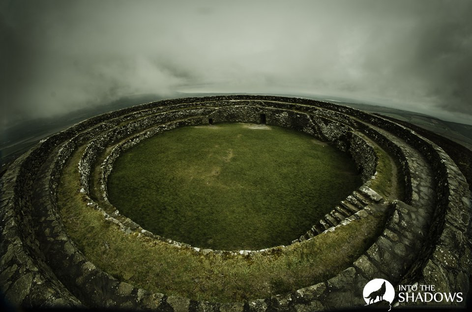 The Grianán Ailigh: The view from the top of the fortifications.