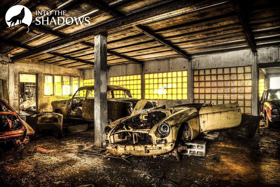 Abandoned cemetery of cars