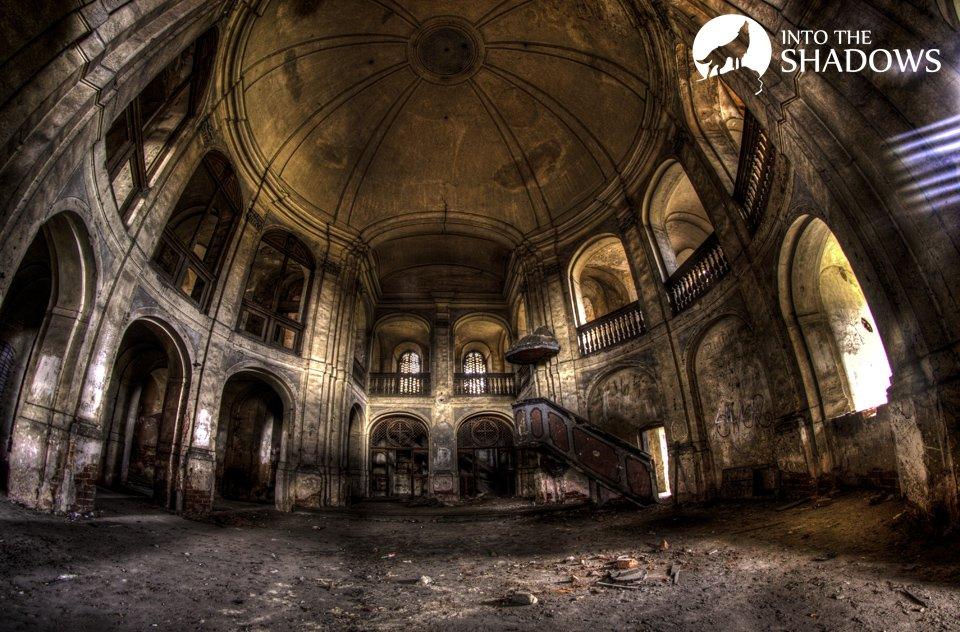 Abandoned Evangelical Church 'g': This is one of the oldest existing in Poland Evangelical churches, was completed in 1749 at the request of the present king of Prussia, Frederick II. View of the center of an abandoned Church.
